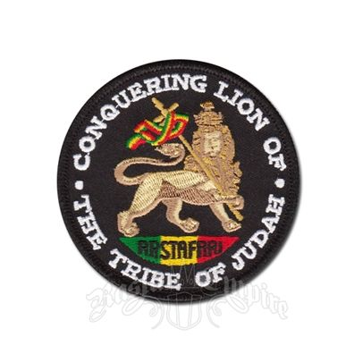 Rastafari Conquering Lion Of The Tribe of Judah Patch