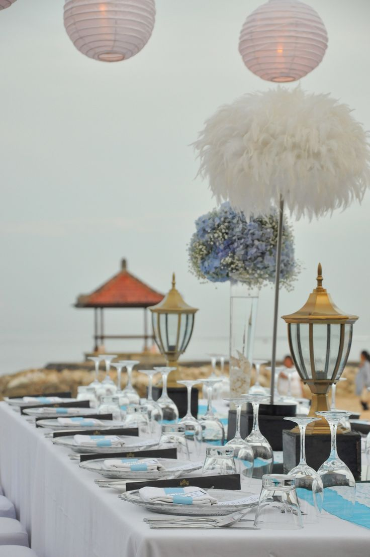 Wedding Dinner at The Royal Santrian  Book your dream wedding with us at www.theroyalsantrianwedding.com Email : event@theroyalsantrian.com  The Royal Santrian Luxury Beach Villa , Tanjung Benoa Bali