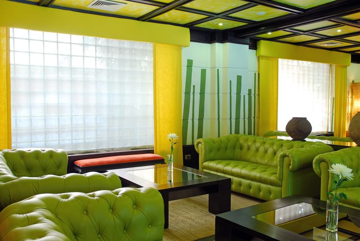 #hotel #fundador #lobby #design #interior #colors #travel #relax #green #yellow #decoration