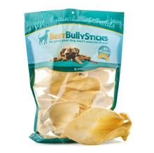 Jumbo Cow Ears - 10 Pack: Jumbo Cow ears are a great alternative or supplement to pig ears and are low in fat! These are about twice the…