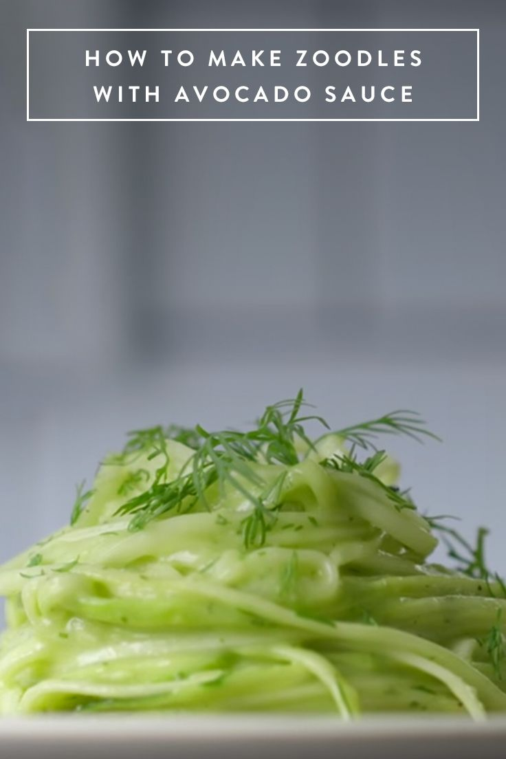 How to Whip Up Zoodles with Avocado Sauce in Less Than 15 Minutes via @PureWow