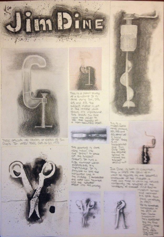 IGCSE Art Coursework - study of jim dine
