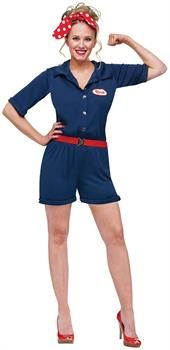 PartyBell.com - Rosie the Riveter Adult Costume