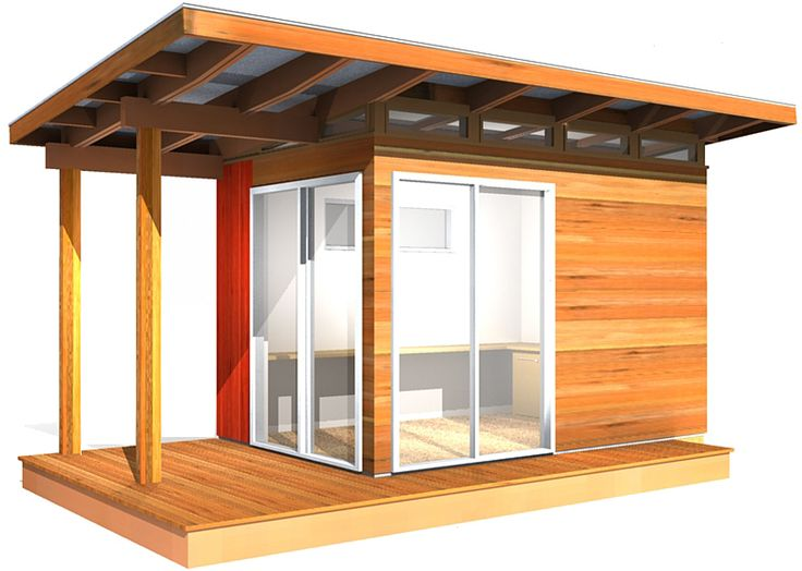 8' x 12' Modern-Shed | 96 Sq/Ft    Prefab Shed Kit provided by Westcoast Outbuildings. Visit www.outbuildings.ca to download catalog