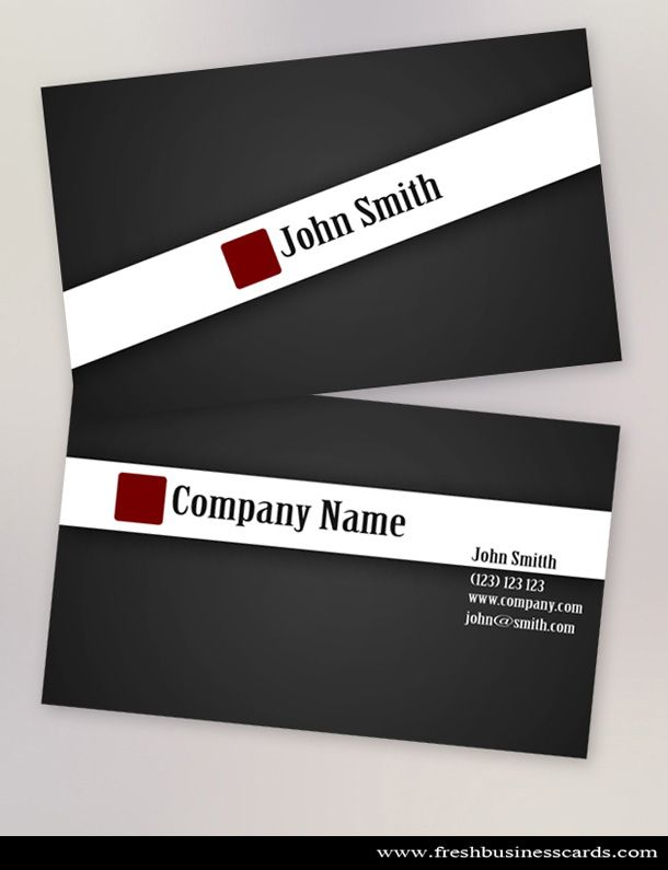 Clean black stylish business card template available for for Adobe photoshop business card template