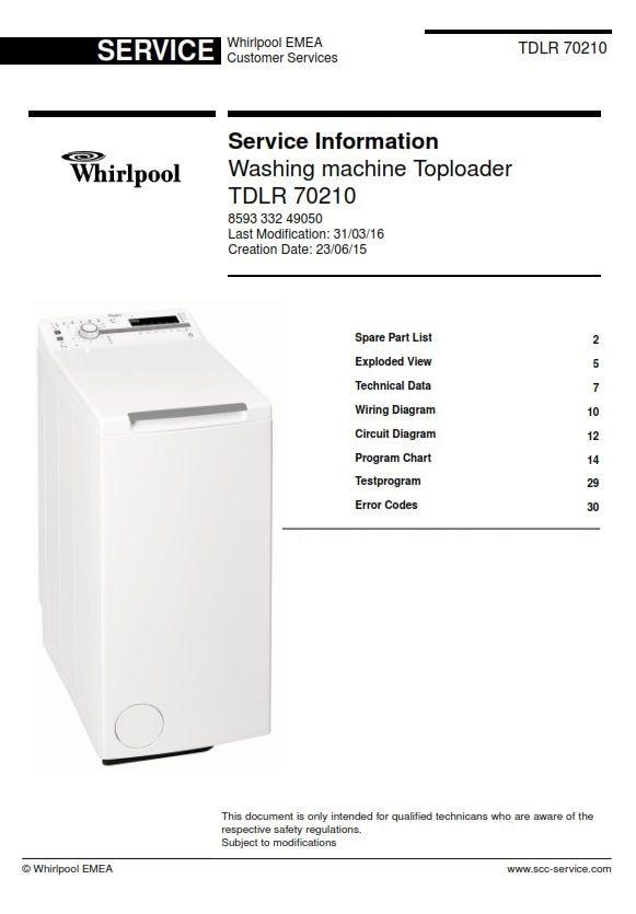Pleasant Whirlpool Tdlr 70210 Washing Machine Service Manual Whirlpool Wiring Digital Resources Honesemecshebarightsorg
