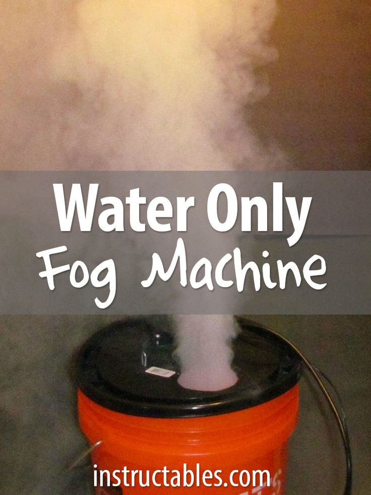 No dry ice or fog juice necessary. Just water! #party