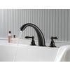 Shop Delta Windemere Oil-Rubbed Bronze 2-handle Adjustable Deck Mount Bathtub Faucet at Lowes.com