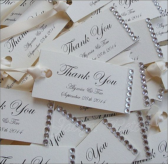 11500 Our Rhinestone Thank You Tags Are Perfect For Your Favor Packaging Or Mini Wedding Gift TagsPersonalized