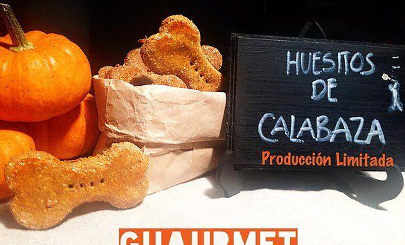 Galletas de calabaza para perro. Pumpkin dog treats. http://www.guaurmet.com/#!especial-del-mes/c1whm