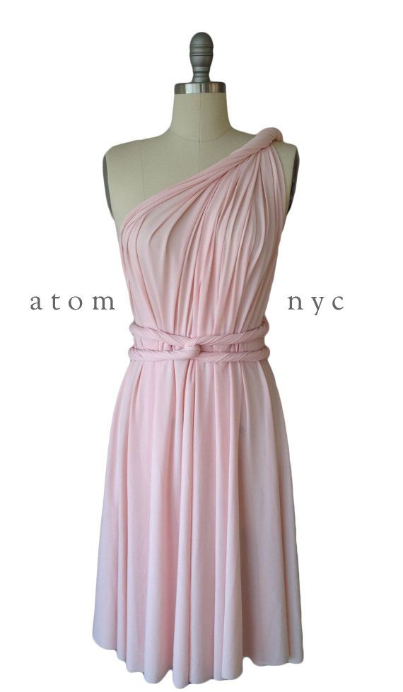 Blush Pink FLOOR LENGTH Kia Evans for Bedford-Baugh by AtomAttire