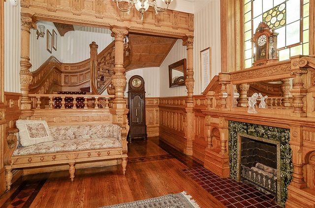 Victorian Era Foyer : Chicago historic row house foyer victorian and