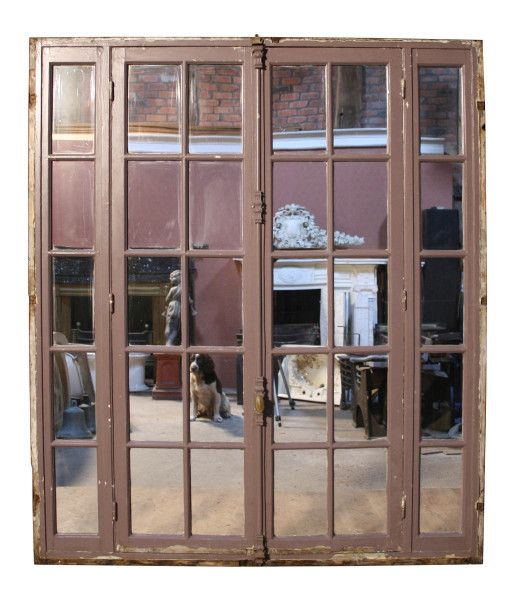 PAIR OF ANTIQUE PAINTED FRENCH MIRRORED DOORS WITH FRAME - UK Architectural Heritage  sc 1 st  Pinterest & 220 best Reclaimed Antique Doors images on Pinterest | Antique doors ...