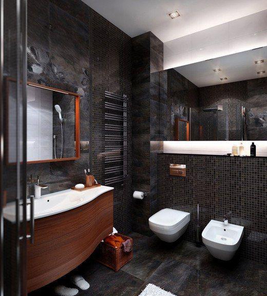 Дизайн ванной в стиле лофт.✌  В основе стиля #лофт – искусное сочетание несочетаемого. В разных функциональных зонах общий #баланс между старым и современным может несколько смещаться в ту или иную сторону. В ванной комнате обычно господствует современный стиль: даже если ты живешь на чердаке, гигиена и комфорт превыше всего. Стиль лофт близок к хай-теку, о чем красноречиво свидетельствует обилие окон, света и стеклянных элементов, также используется отделка стен под #кирпич.