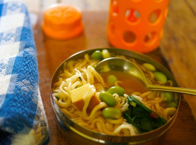 Lunch Box Ramen is the answer to the same-old, same-old school lunch. Easy to make, nourishing, and tasty, too.