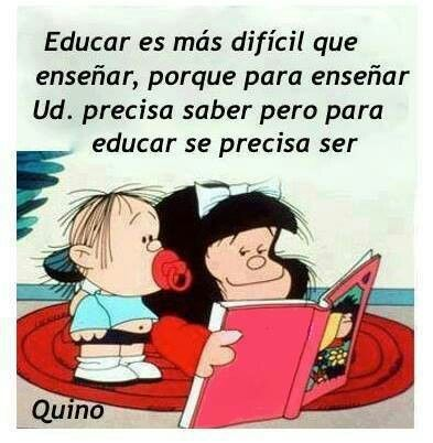 Educating is more difficult than teaching, for to teach you need to know but to educate you need to be
