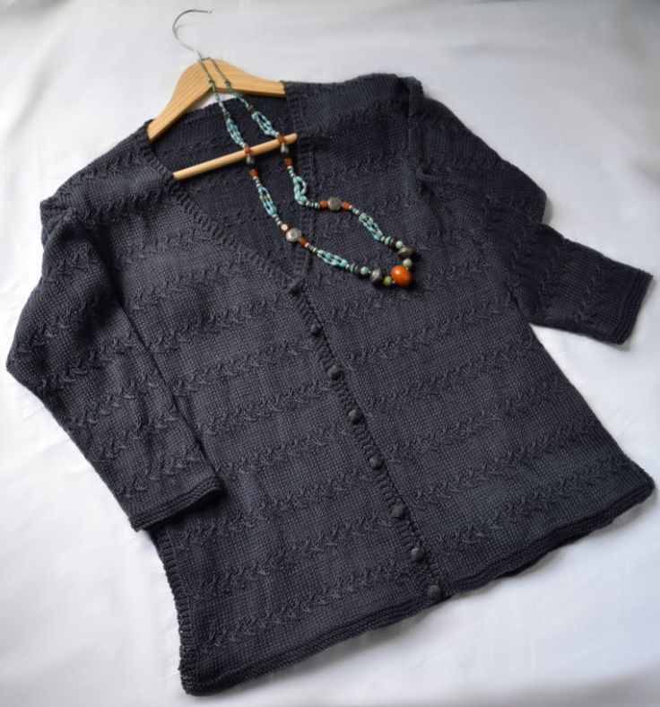 A classic V-neck cardi to knit in sportweight yarn - maddy laine Knitting Patterns