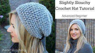 Slightly Slouchy Crochet Hat Tutorial - YouTube