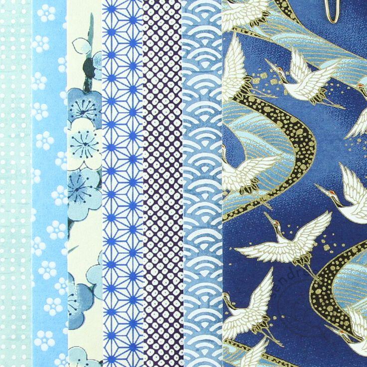 set origami bleu