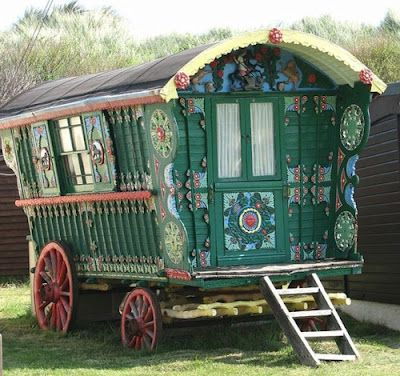 a vardo (romani) wagon... my new idea of a dream home.