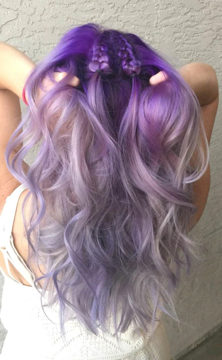Purple, Lavender, and silver Hair  Done by Emily Torres! Check out her instagram…