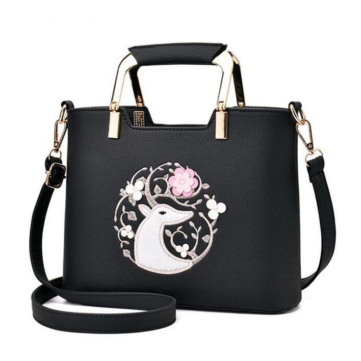 VIDA Statement Bag - Fox and Butterfly Bag by VIDA 1o4Ba2