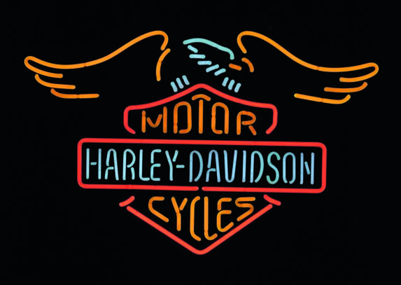 1000 images about harley davidson on pinterest logos clock and automotive - Enseigne lumineuse vintage ...