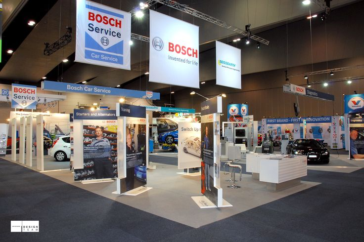 BOSCH @ AAAE Car parts and automotive technology specialist Bosch is a true market leader, which their stand clearly communicates.