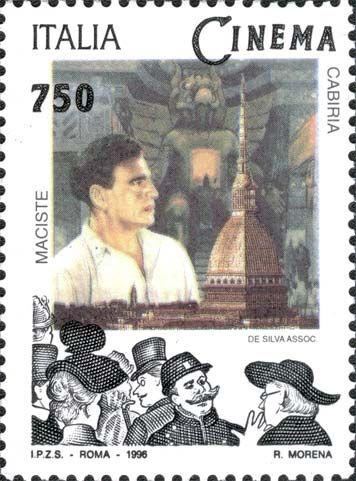 """1996 - """"Il Cinema Italiano"""": Maciste in """"Cabiria"""" - film muto del 1914 diretto da Giovanni Pastrone."""