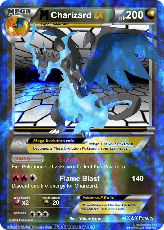 Fake Pokemon Card Mega Charizard Ex Full Art