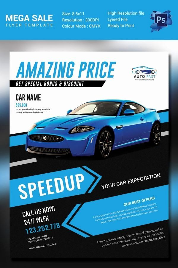 Car For Sale Flyer Template New Mega Car Sale Flyer Template Car Advertising Design Banner Ads Design Catalog Design Layout