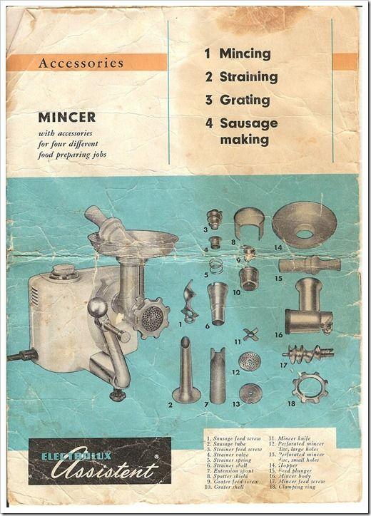 electrolux-assistent-dlx-model-n4-manual-mincer-meat-grinder