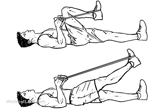 Resistance Band Lying Leg Extensions