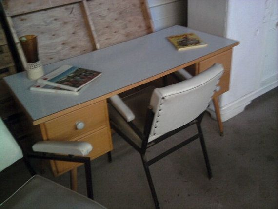 Fab midcentury retro 1960s timber desk child's room by mytweehouse, $105.00