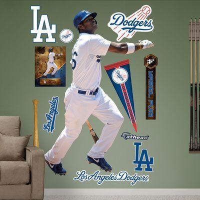 MLB Los Angeles Dodgers Yasiel Puig Wall Decal