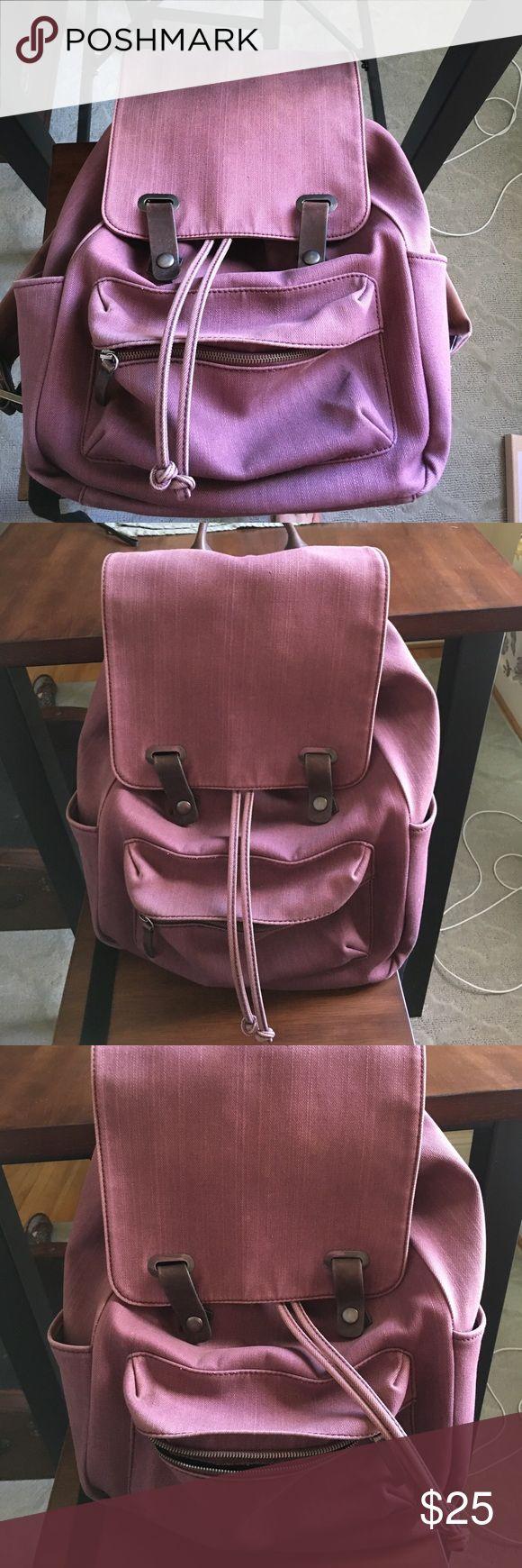 Everlane backpack – pink purple Everlane backpack …
