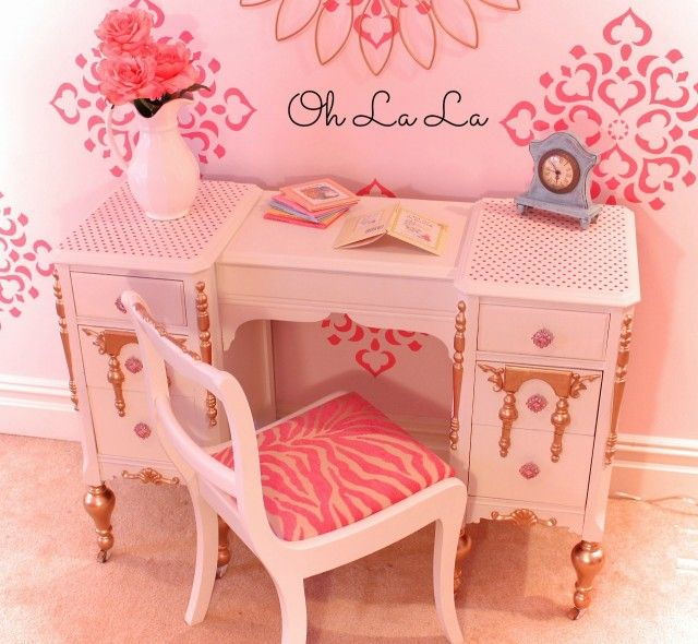 Upcycled Girl s Vanity243 best Vanity Desk Secretary images on Pinterest   Vanity desk  . Diy Vanity For Little Girl. Home Design Ideas