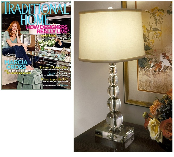 Crystal Orb Lamp Featured By Traditional Home Magazine Courtesy Of InStyle Decor Beverly
