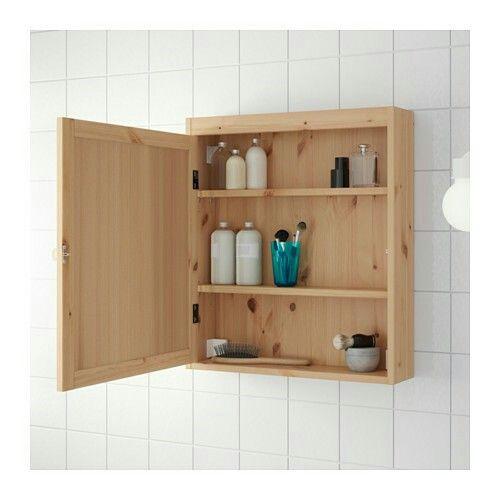 IKEA ミラーキャビネット, ライトブラウン, 60x14x68 cm ¥ 9,990