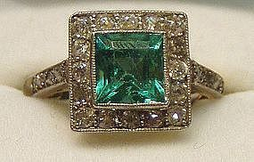 Apparently I have a thing for art deco emerald rings...