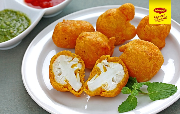 Fried cauliflower //  Conopida pane cu MAGGI Secretul Gustului Intensavor gust de Gaina -> https://www.facebook.com/MAGGI.Romania