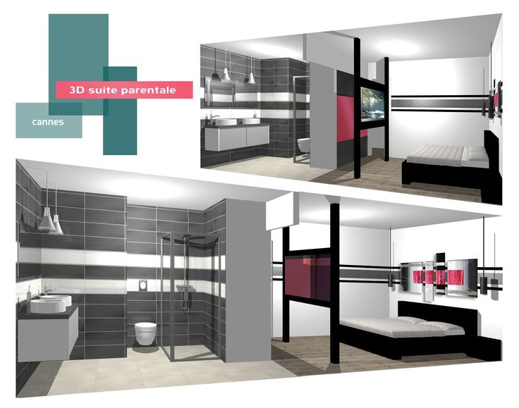3d suite parentale b indoor http www b for Taille salle de bain suite parentale