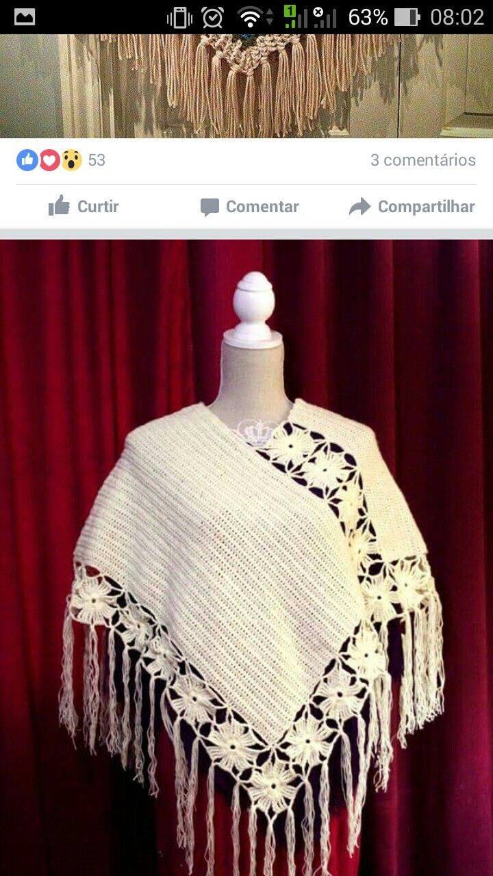 82 besten poncho de crochê Bilder auf Pinterest | Stricken häkeln ...