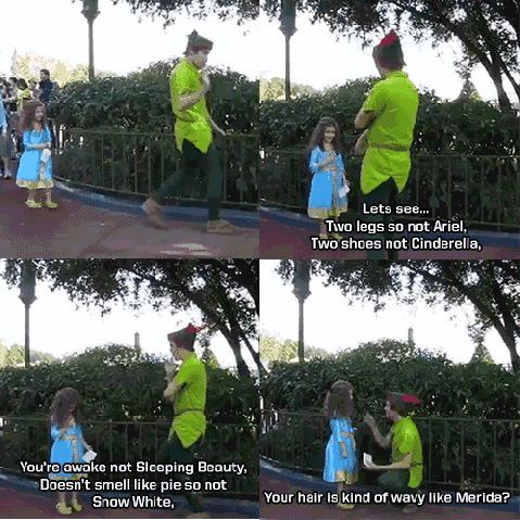How to do your job right - ADORABLE PETER PAN @ DISNEY!