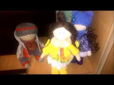 интерьерные куколки - малышки в моем исполнении - YouTube