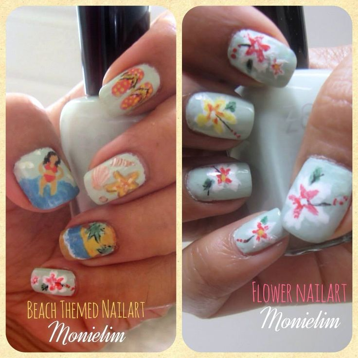 Best 25+ Beach Themed Nails Ideas On Pinterest