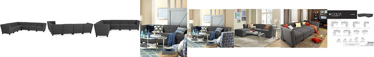 Harper Fabric 6-Piece Modular Sectional Sofa