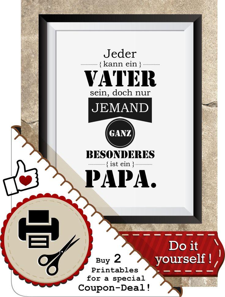 Mach´ Daddy zu Weihnachten ein schönes Geschenk .. ! https://www.etsy.com/de/listing/225692708/spruch-printable-vater-und-papa