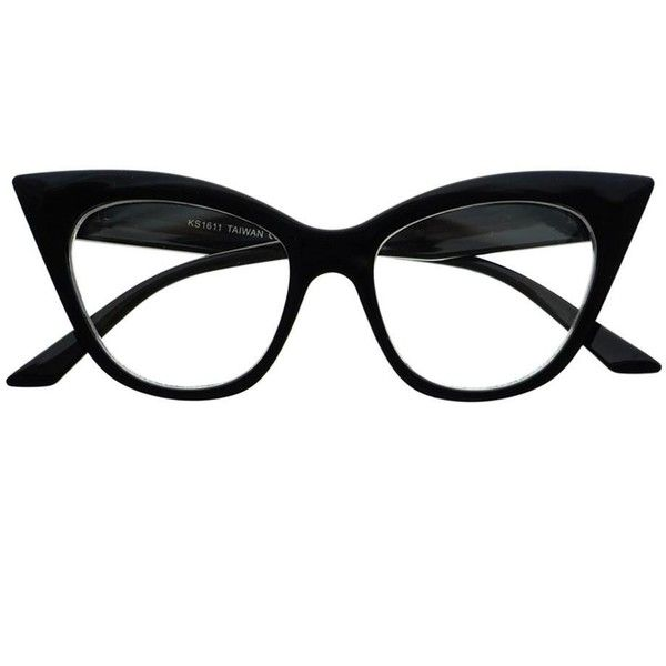 Retro Vintage Womens Fashion Clear Lens Cat Eye Glasses Frames c1150 (14 AUD) ❤ liked on Polyvore featuring accessories, eyewear, eyeglasses, vintage glasses, retro cat eye glasses, vintage eyeglasses, cat-eye glasses and retro glasses