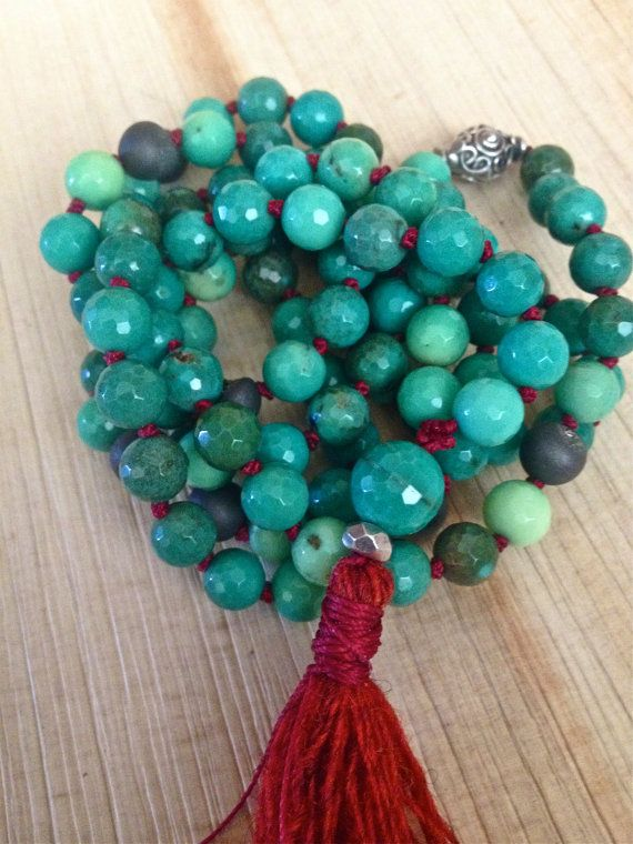 Hey, I found this really awesome Etsy listing at https://www.etsy.com/listing/198191516/moss-opal-mala-beads-green-opal-necklace